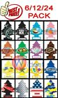 6/12/24Pack Little Trees Car Home Office Hanging Air Freshen