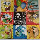 OFFICIAL DISNEY PARTY NAPKINS MICKEY MOUSE, SNOW WHITE, SPONGE BOB  & MORE