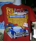 ROUTE 66 CHICAGO TO LOS ANGELES USA ON A UNISEX/MEN T-SHIRT MUSCLE CARS HOT ROD