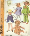 McCall's 2563 Toddlers' Dress, Vest, Pants, Bloomers & Bonnet    Sewing Pattern