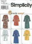 Simplicity 7417 Misses' and Men's Robes 42 to 48   Sewing Pattern