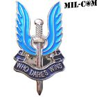 BRITISH ARMY SAS PIN ENAMEL BADGE SPECIAL AIR SERVICE WHO DARES WINS GIFT UK