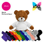 50 Blank Richard Teddy Bears Soft Toys Plain T-Shirt Hoody Transfer Sublimation