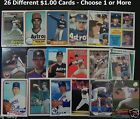 NOLAN RYAN $1.00 Cards _ 26 Different 1980s & 1990s Cards _ 10 Mail FREE in USA
