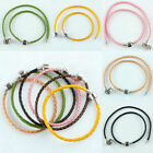 Wholesale Plain PU Leather Braided Cuff Charms Bracelet Bangle Wristband Jewelry