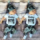 3pcs White Tops Romper Long Pants Hat Set Outfits Clothes For Kids Baby Girl Boy