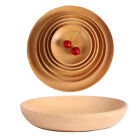 TY Beech Wood Tray Round Pizza Plates Bread Fruit Dish Plate Tableware