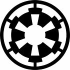 Star Wars Galactic Imperial Logo Vinyl Decal Car Bumper Window Sticker Stencil $3.5 USD on eBay