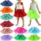 0-10 Years Baby Kid Girl Chic Lace Fluffy Tutu Dance Party Christmas petti skirt