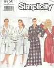 "Simplicity 9950 Unisex Robe Chest/Bust 29 1/2"" to 44""    Sewing Pattern"