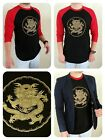 GOLD DRAGON, SLIM FIT 3/4 Sleeve Raglan Baseball T-shirt, NWT & Cool frm. Swank