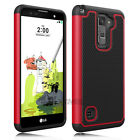 Shockproof Armor Hybrid Rubber Defender Impact Case Cover for LG Stylo 2 Plus