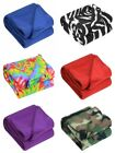 50 x 60 Inch Soft Wholesale Fleece Blankets - 12 Pack Assorted Fleece Throw Lot image