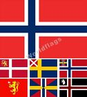 Norway Flag 3X5FT Historical Swedish and Norwegian Merchant Royal Standard
