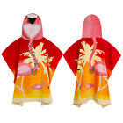 Nifty Kids Soft Cotton Flamingo Hooded Poncho Towel Childrens Bath & Beach Wear