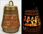 """Hand-crafted Brass Lampshade 9.5""""Ht 1.2 Kg Tribal Indian Ethnic Craft Gift Décor"""