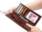 Genuine Real Cowhide Leather Wallet Card Sleeve Pouch Cover Case For Apple Moble