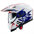 Caberg X-Trace Lux White/Red/Blue Motorcycle Helmet