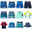NEW Gymboree boys summer swimwear shorts rash guard hat size 6-12 2T 3T 4T 5T