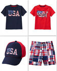 NEW Gymboree boys 4th of July red white and blue tee cap size 3T 4T 5T NWT
