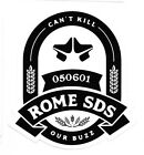 ROME SNOWBOARD DESIGN SYNDICATE SDS SMALL STICKER DECAL CHOICES,  NEW!