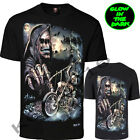New Gothic Glow In The Dark ( GRIM REAPER/SCYTHE BIKE/SKULL/BAT) Both Side Print