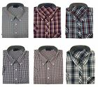 Espionage Men's Short Sleeved Yarn Dyed Check Shirts (211)Size 2XL-8XL,6 Options
