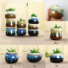 Glazed Ceramic Succulent Planter Flower Porcelain Pot Plant Box Garden Decor