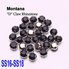 144PCS 4MM/4.5MM faceted Montana Sew on Rhinestone Metals Claws for Dress Making