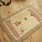 French Country Shabby Chic Cottage Floral Quilted Floor Door Bath Mat Rug