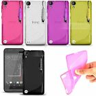 Ultra Thin Clear S-Line Gel Case Cover + Screen Protector For HTC Phone Models