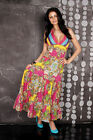 Ladies Women's Long Colorful Maxi Dress Boho Floral Summer Dress Size 8,10,12,14