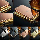 New Luxury Aluminum Ultra-thin Mirror Metal Case Cover For All Sony Xperia Phone