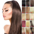 """HANDMADE invisible line 100% remy human hair extensions thicker set 22"""" 140g #"""