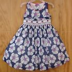 NWT Tutti Color Girl's Floral Smocked Hand Embroidered Dress 4 New Party