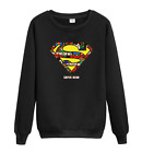 MENGD.G.O.S Superman Super hero Long Sleeve Sweatshirts Clothing Casual Pullover