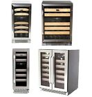 Whynter Wine Cooler Built-In Refrigerator Steel Wood Dual Zone Thermoelectric