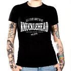 NEW! KNUCKLEHEAD ROLLUP PARTY BASHER STYLE BIKER T-SHIRT UNISEX S/3XL BLACK NWOT