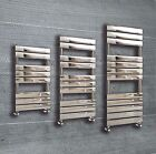 Designer Flat Panel Chrome Heated Towel Rail Radiator Premium Bathroom