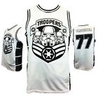 STAR WARS STORM TROOPERS 77 Embroidered Basketball Jersey men's Tank Top Gift . $20.29 USD