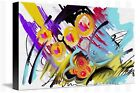 Etude - Abstract painting image on wrapped canvas, by Galina