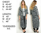 Womens Casual Long Sleeve Cardigan Knit Knitwear Sweater Coat Thick Outwear Tops