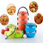 1/2/3Layer Tier Stainless Steel Thermal Insulated Stackable Lunch Box Bento Food