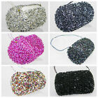 NEW Sparkly Sequin Bowling Bag with Strap BLACK PINK SILVER MULTI PEWTER PROM