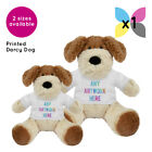 1 Personalised Darcy Dog Soft Toy Promotional Logo Text Photo Printing Gifts