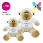 1 Personalised Lucy Lamb Soft Toy Promotional Logo Text Photo Printing Gifts