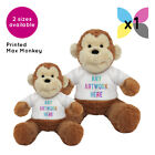 1 Personalised Max Monkey Soft Toy Promotional Logo Text Photo Printing Gifts