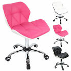 2 X SWIVEL FAUX LEATHER HOME DESK COMPUTER OFFICE KITCHEN ERGONOMIC STUDY CHAIR