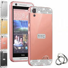 Us Luxury Bling Diamond Mirror Pc Back Phone Cover Case Metal Bumper For Htc