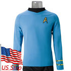 Cosplay Star Trek Spock Blue Shirt TOS The Original Series Blue Uniform Costumes on eBay